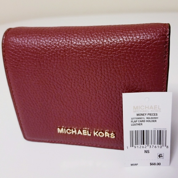 de54b3033a96 Michael Kors Bags | Money Pieces Leather Flap Card Holder | Poshmark